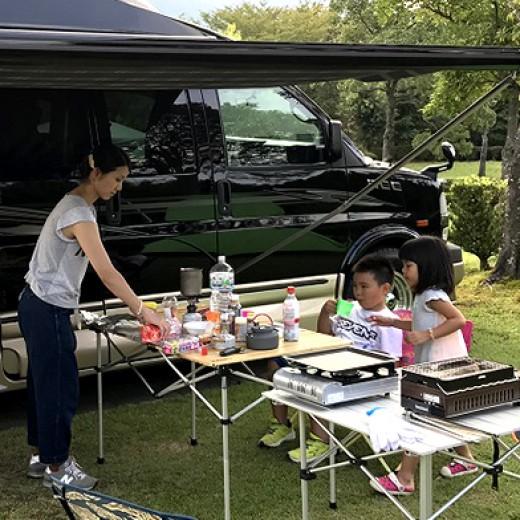 ロードトレックで家族キャンプ
